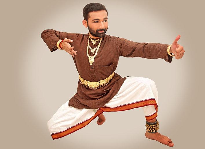 Kuchipudi dance pose