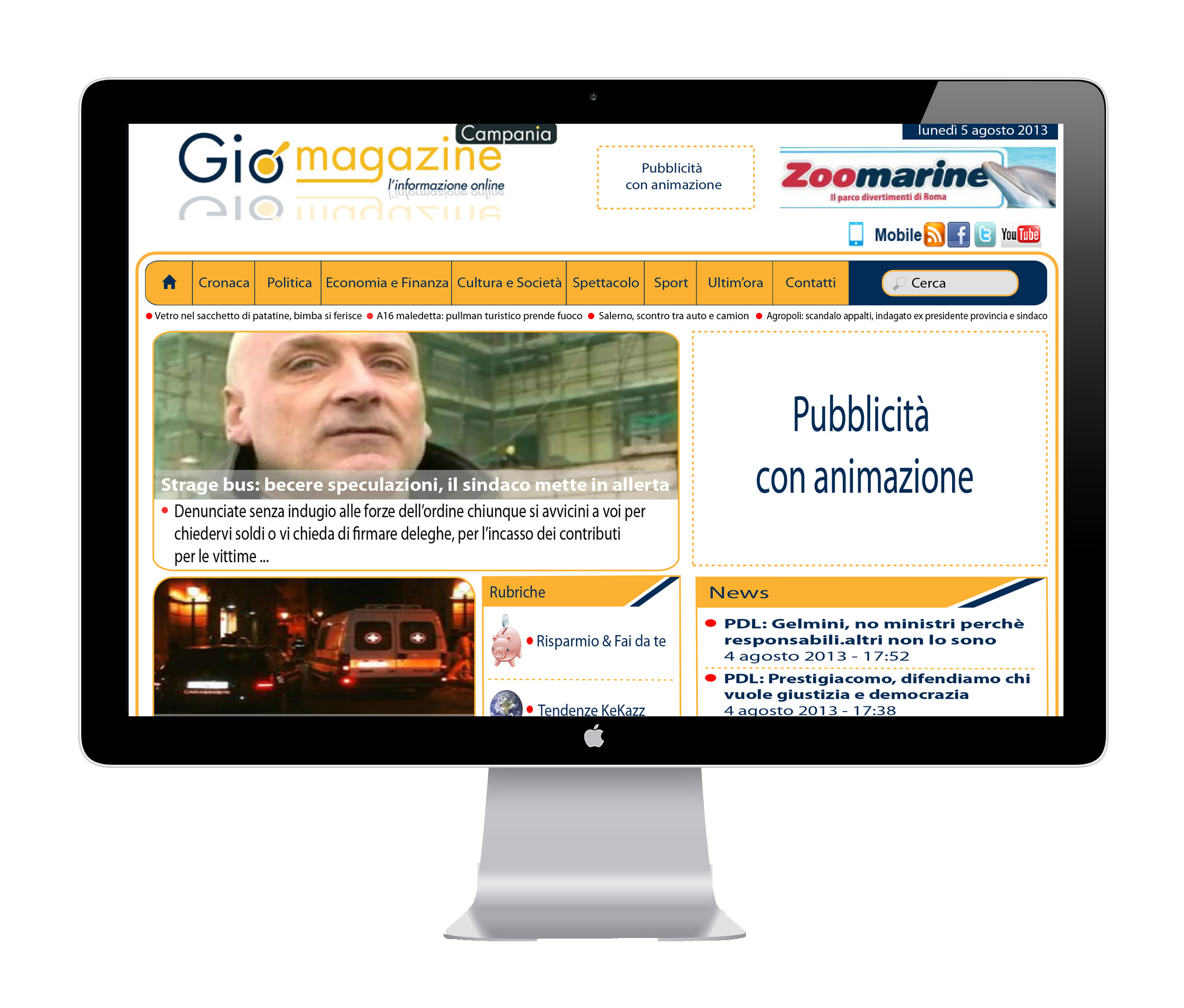prog grafica sito magazine
