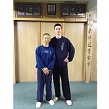 Laurence Chapman with Master Wu