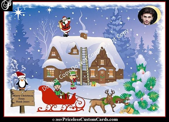Santa's Midnight Stroll Card