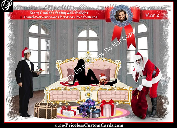 Her Christmas In Bed Card