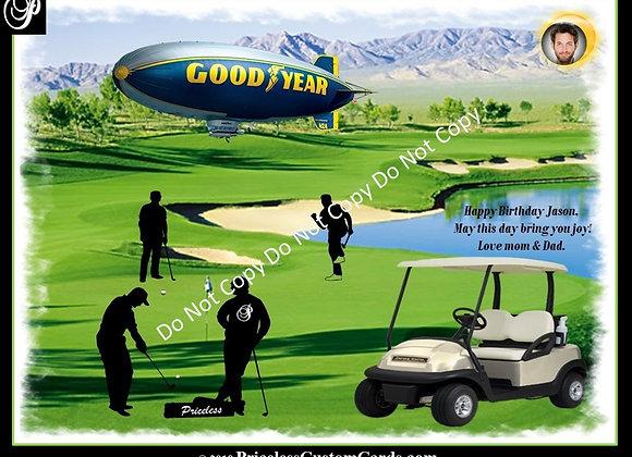 Golf Time Birth Day E-Card