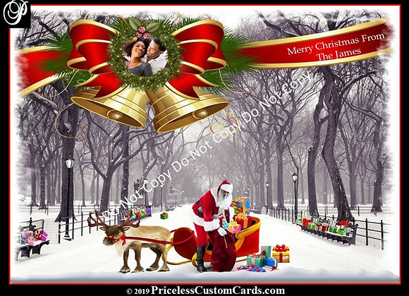 Central Park Santa Card