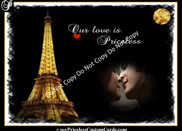 Eiffel Tower Valentine's E-Card