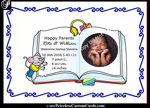 1st Chapter Baby Arrival E-Card