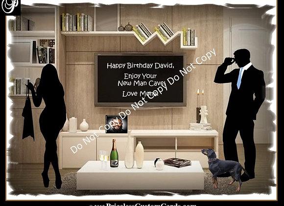 The Man Cave Birthday E-Card