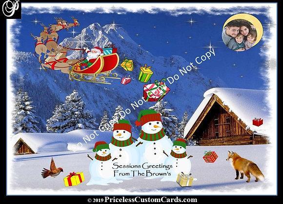 Santa's On The Move Card