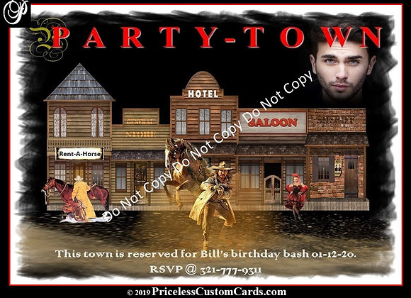 Party Town B-Day Invite E-Card