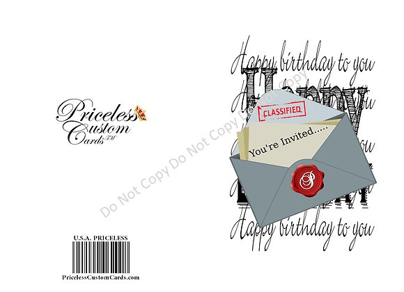 Your In B-Day Bash Invite Card