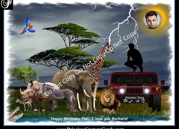 African Safari Birthday E-Card