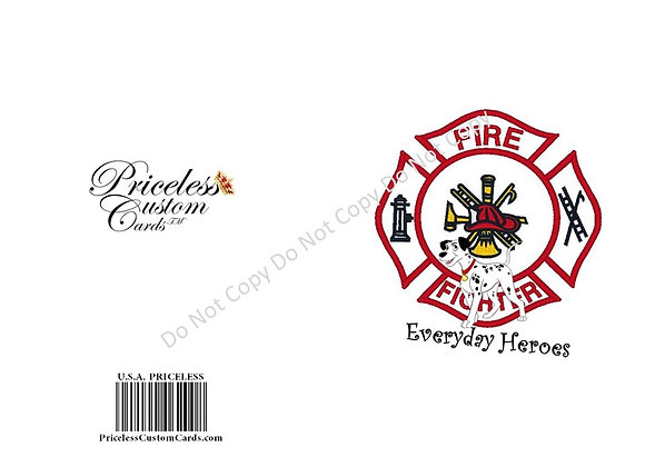 Thank A Fireman/Woman Card