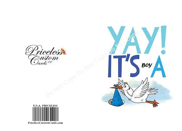 1st Chapter Baby Arrival Card