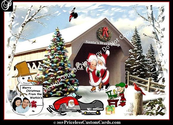 Santa's Work Shop Card