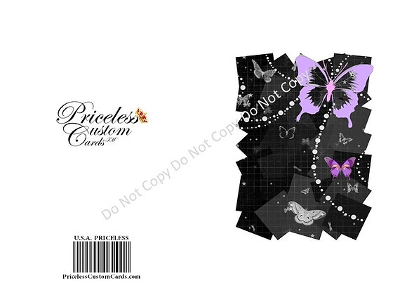 Black Butterfly Thank You Card