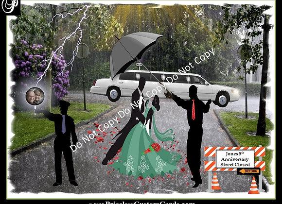 Dancing In Rain Anniversary E-Card