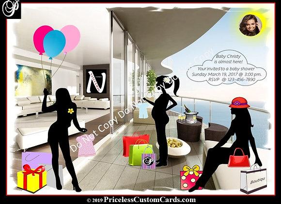 Penthouse Shower Invite E-Card