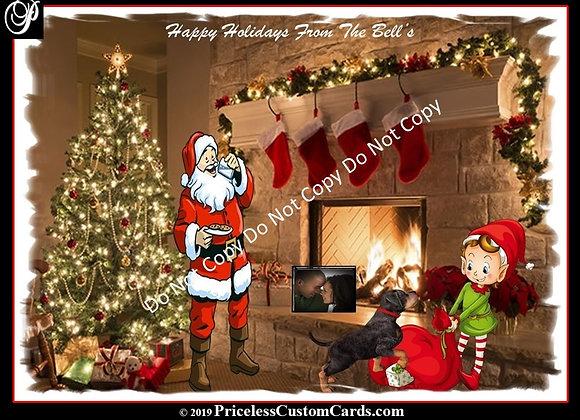 Santa's Milk & Cookies Card