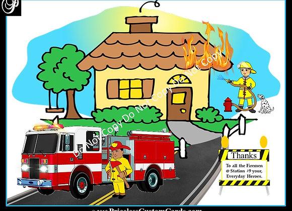 Thank A Fireman/Woman E-Card