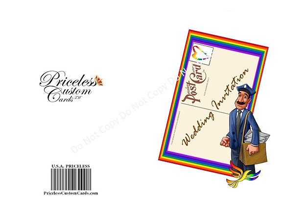 LGBT Private Party Save Date Card
