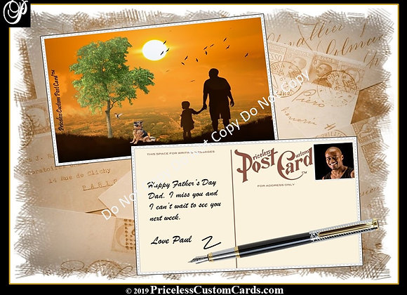Post Card Father's Day E-Card