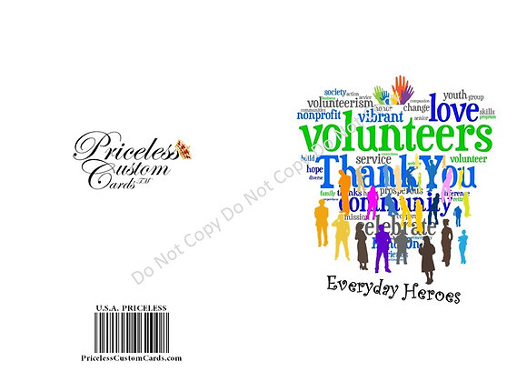 Thank A Volunteer Card