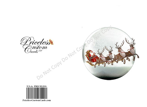 Snow Dome Holiday Card