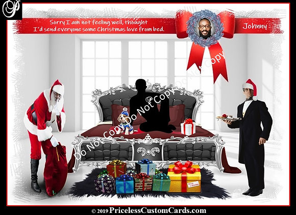 His Christmas In Bed Card