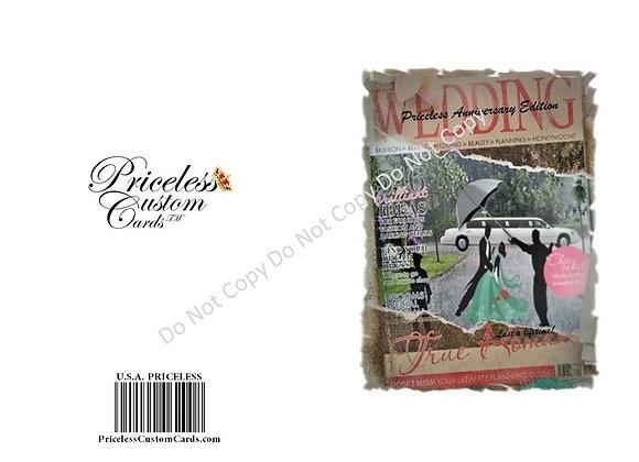 Dancing In Rain Anniversary Card
