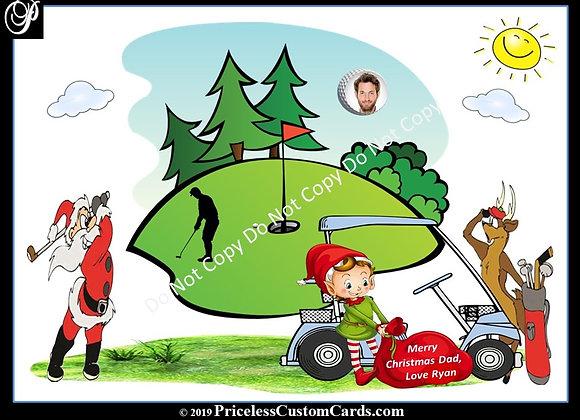 Golfing With Santa Card