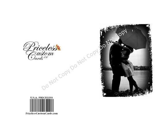 Silhouette Save Date Card