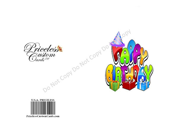 Party's On B-Day Bash Invite Card
