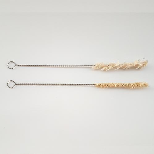 Escova canudo fibra natural