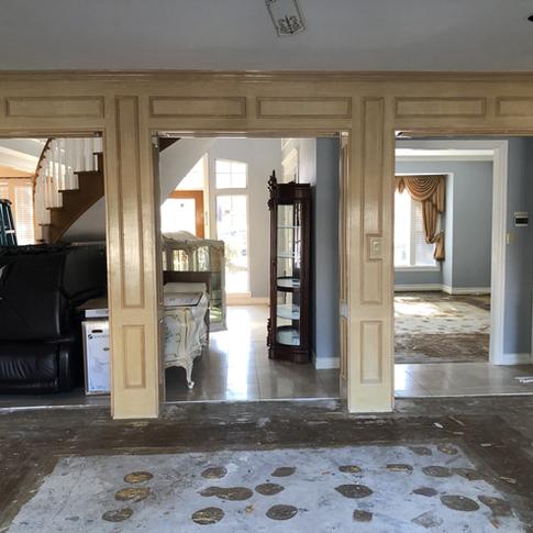 Interior before