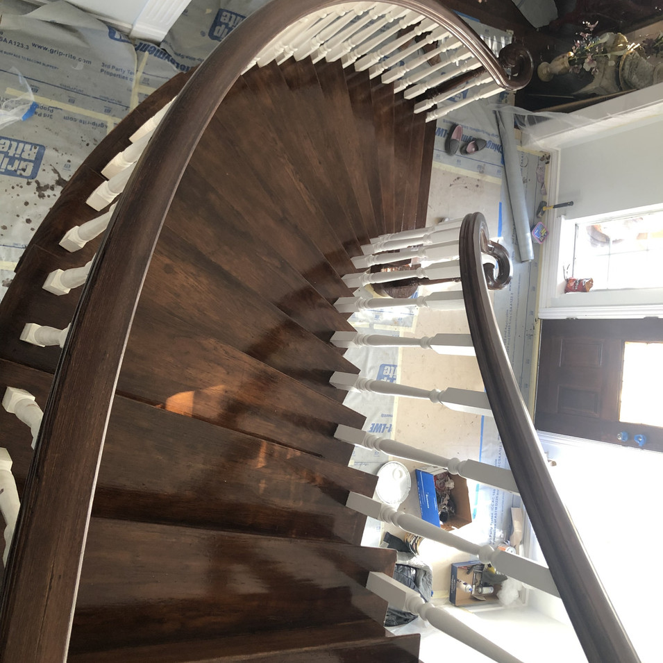 Staircase after