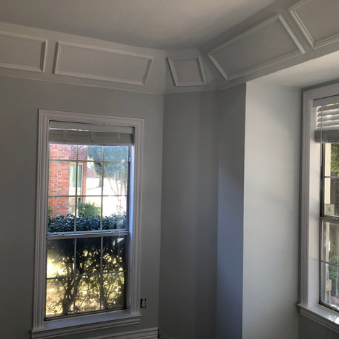 Interior paint and moulding