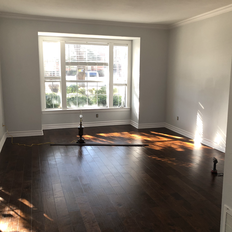 Interior floors and paint