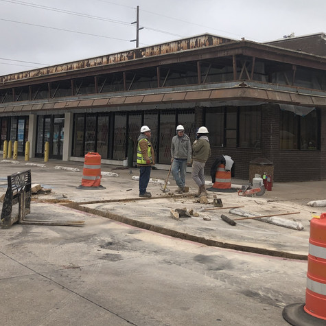 Store front demo before - Denton Conns