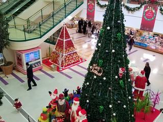 ショッピングセンターのXmasディスプレー
