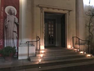 """Veillée, nuit (Adoration) et Laudes dans notre èglise illuminée de tout feu pour l'""""Année S"""