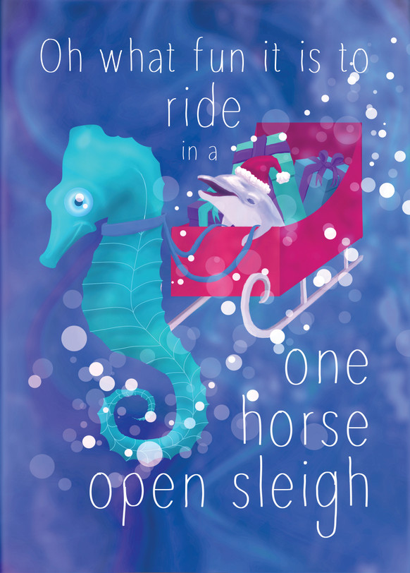 Oh what fun, seahorse sleigh