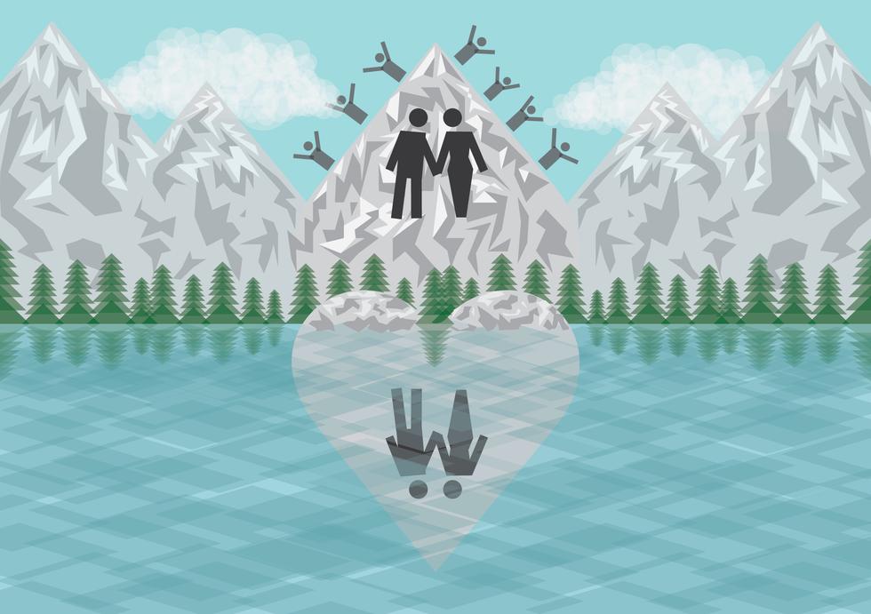 Couple found in swiss glacier