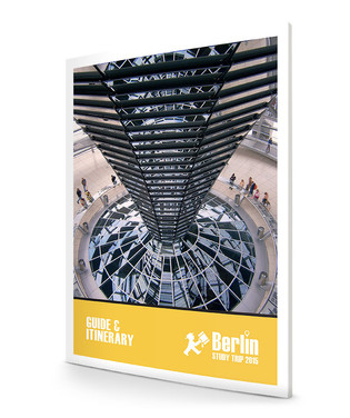 Berlin guidebook and itinerary cover