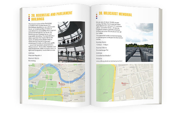 Berlin guidebook and itinerary inside spread