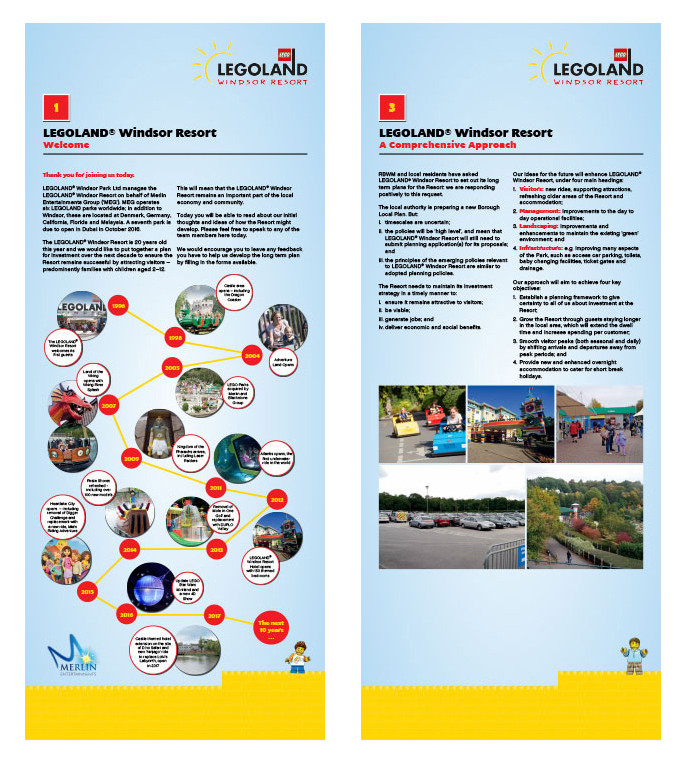 LEGOLAND exhibition banners