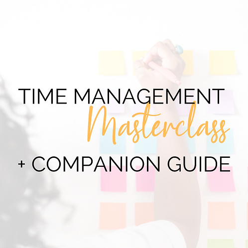 Time Management Masterclass