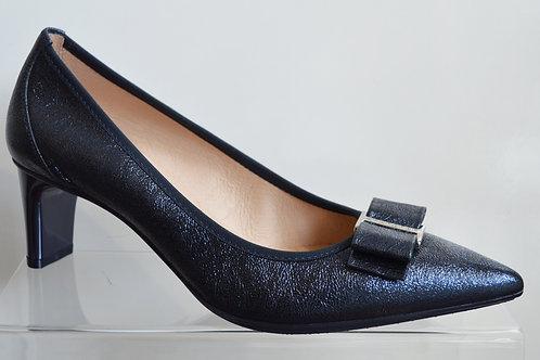 Hispantitas Navy Leather Court Shoe