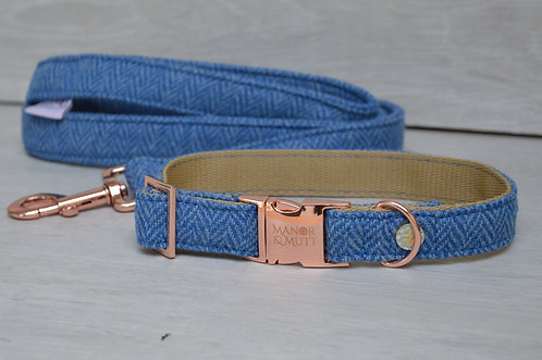 Cornflower British Tweed Collar