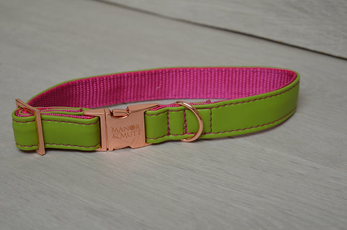 WATERMELON FAUX LEATHER COLLAR