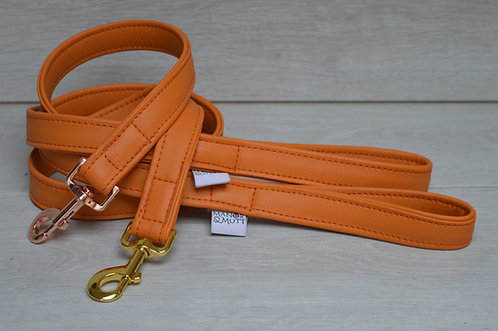 Orange Faux Leather Lead