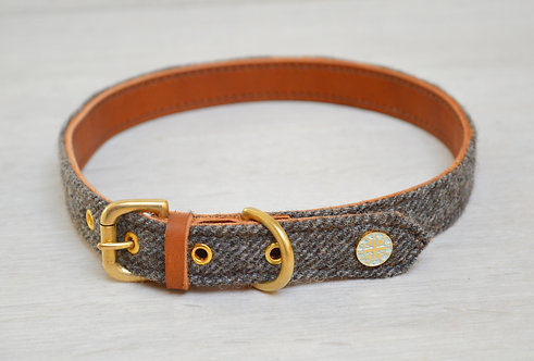 Leather & Tweed Collar